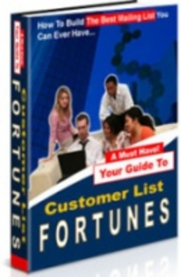 Product picture Customer List Fortunes - New!